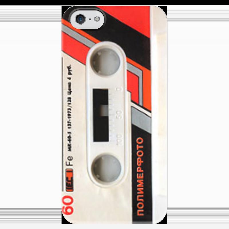 Чехол для iPhone 5 глянцевый, с полной запечаткой Printio Кассета кассета для шрифтов 5 5 мм