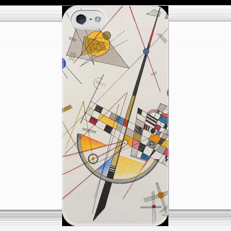 Чехол для iPhone 5 глянцевый, с полной запечаткой Printio Тонкое напряжение (василий кандинский) торт printio points василий кандинский