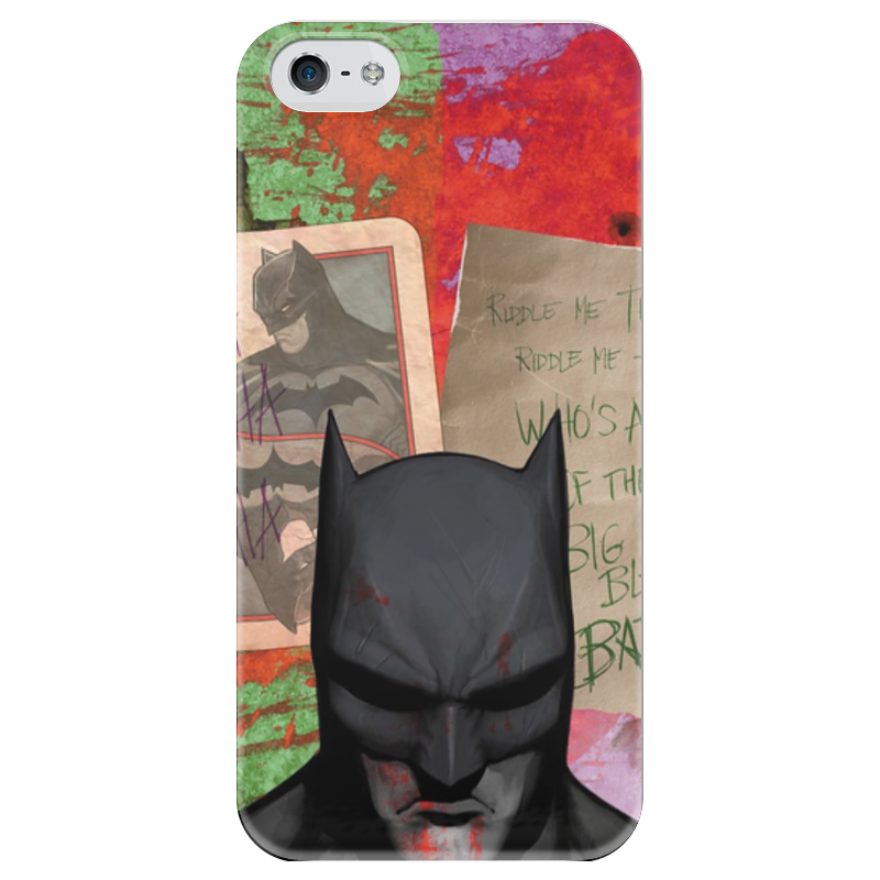 Чехол для iPhone 5 глянцевый, с полной запечаткой Printio Бэтмен чехол для iphone 5 глянцевый с полной запечаткой printio последняя молитва христианских мучеников жером