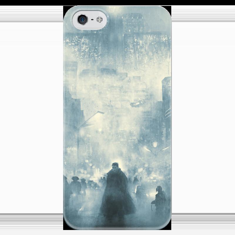 Чехол для iPhone 5 глянцевый, с полной запечаткой Printio Бегущий по лезвию по лезвию