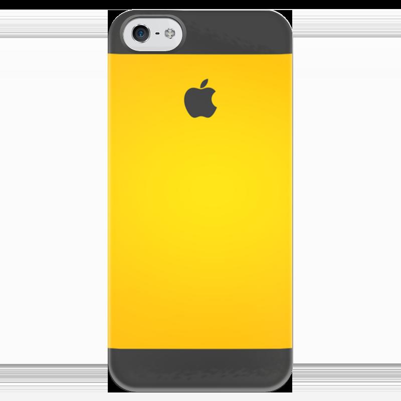 Чехол для iPhone 5 глянцевый, с полной запечаткой Printio Апельсин