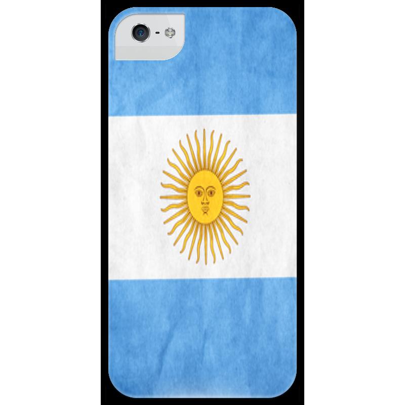Чехол для iPhone 5 глянцевый, с полной запечаткой Printio Флаг аргентины чехол для iphone 5 глянцевый с полной запечаткой printio флаг пророка жан леон жером
