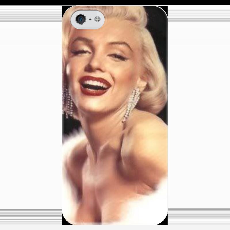 Чехол для iPhone 5 глянцевый, с полной запечаткой Printio Мэрилин монро чехол для iphone 5 глянцевый с полной запечаткой printio не трогай мой телефон