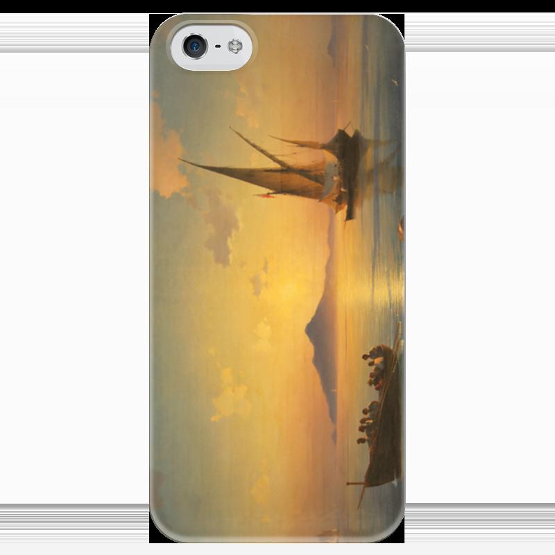 Чехол для iPhone 5 глянцевый, с полной запечаткой Printio Неаполитанский залив настенные часы русский меценат рм 775