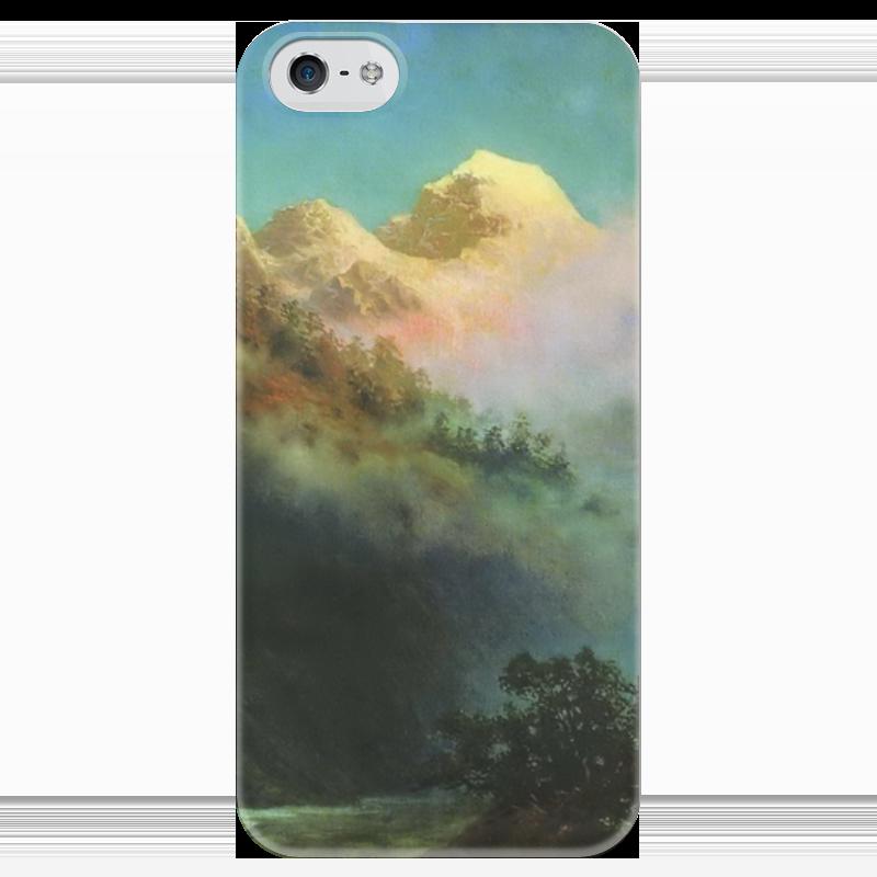 Чехол для iPhone 5 глянцевый, с полной запечаткой Printio Восход солнца (картина архипа куинджи) восход солнца