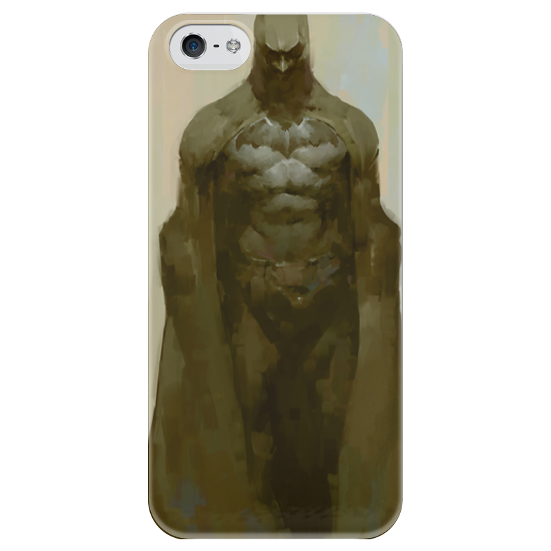 Чехол для iPhone 5 глянцевый, с полной запечаткой Printio Бэтмен чехол для iphone 5 глянцевый с полной запечаткой printio хлоя морец