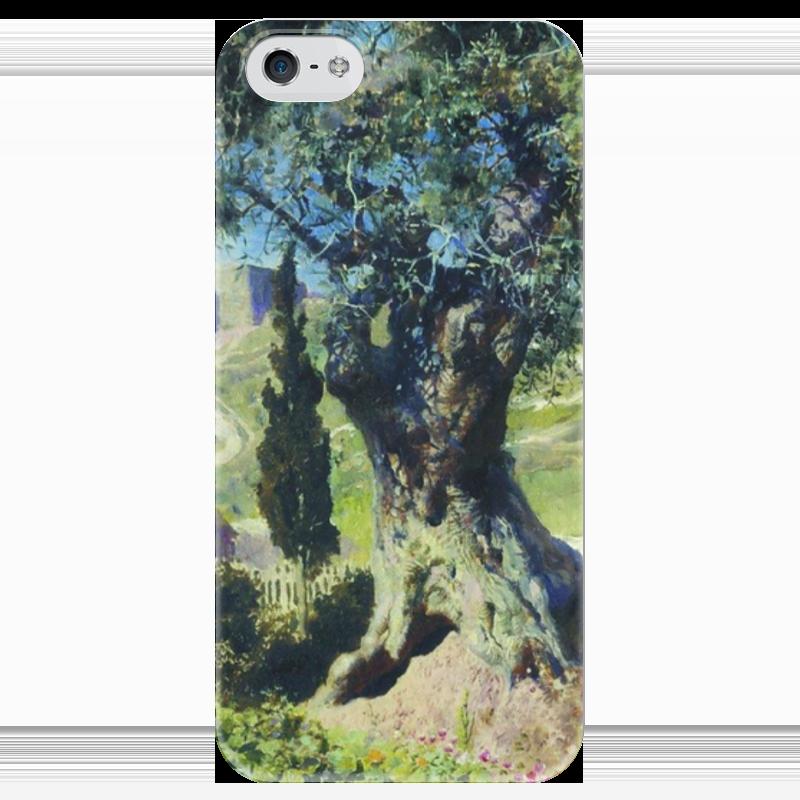 Чехол для iPhone 5 глянцевый, с полной запечаткой Printio Олива в гефсиманском саду в поленов
