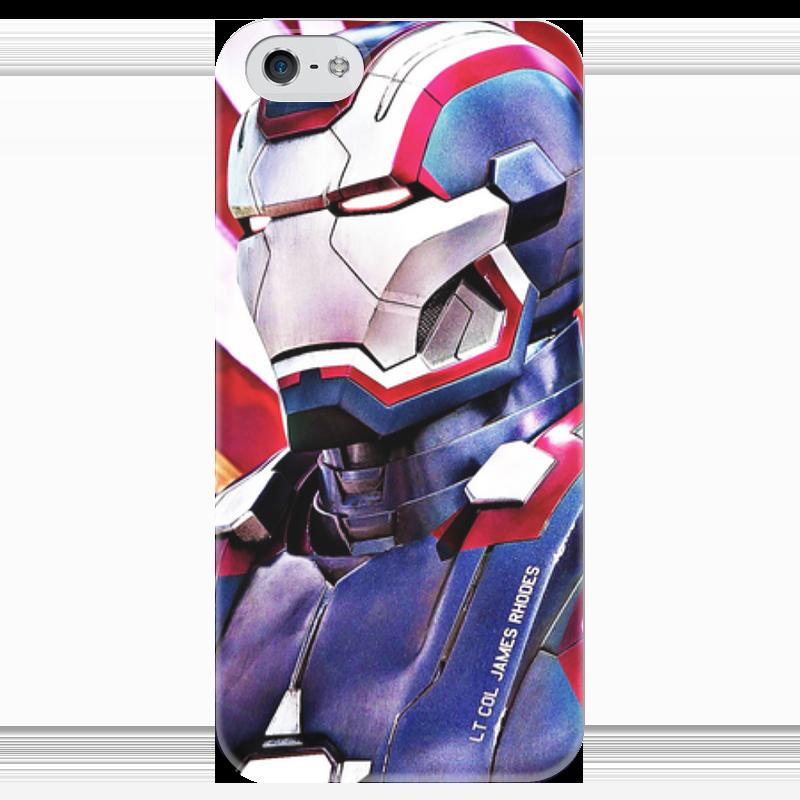 Чехол для iPhone 5 глянцевый, с полной запечаткой Printio Ironman чехол для iphone 5 глянцевый с полной запечаткой printio эфиопка