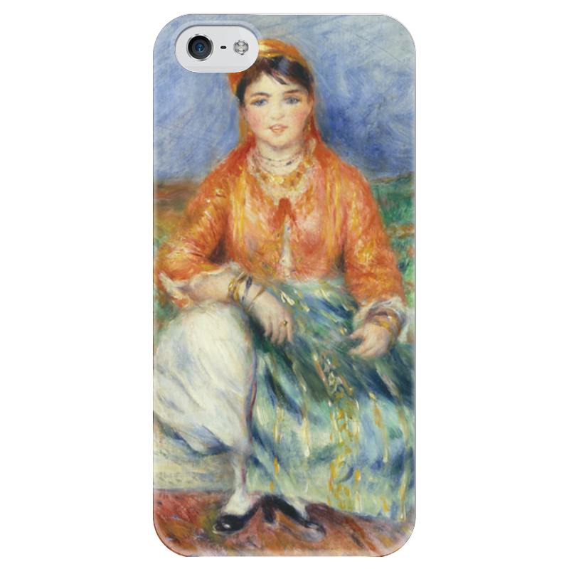 Чехол для iPhone 5 глянцевый, с полной запечаткой Printio Алжирская девушка (картина ренуара) чехол для iphone 4 глянцевый с полной запечаткой printio сад на улице корто сад на монмартре ренуар