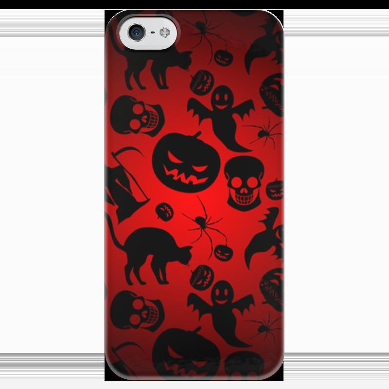 Чехол для iPhone 5 глянцевый, с полной запечаткой Printio Хэллоуин чехол для iphone 5 глянцевый с полной запечаткой printio эфиопка