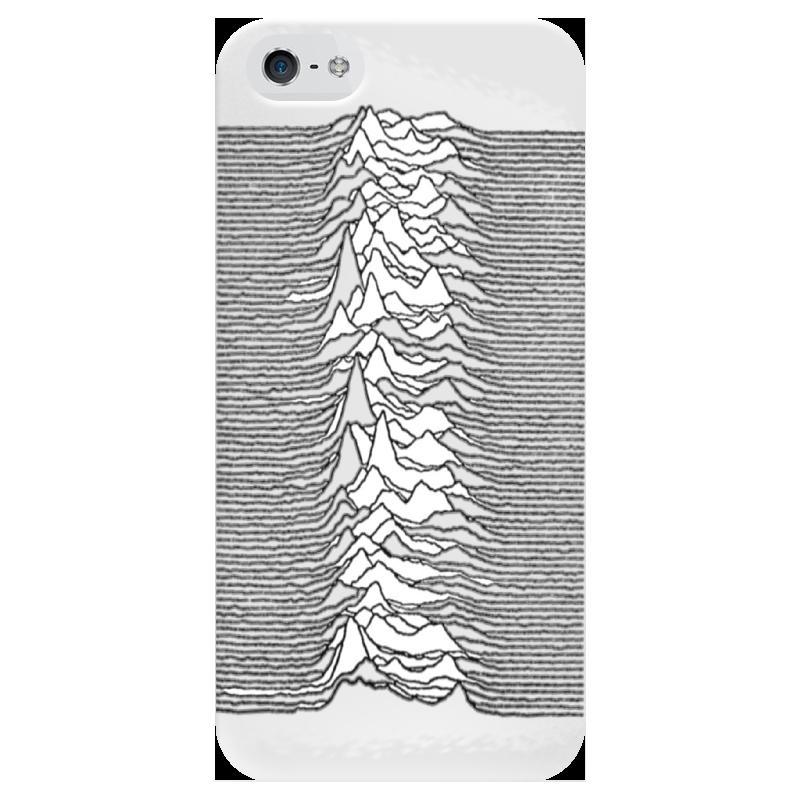 Чехол для iPhone 5 глянцевый, с полной запечаткой Printio Unknown pleasures
