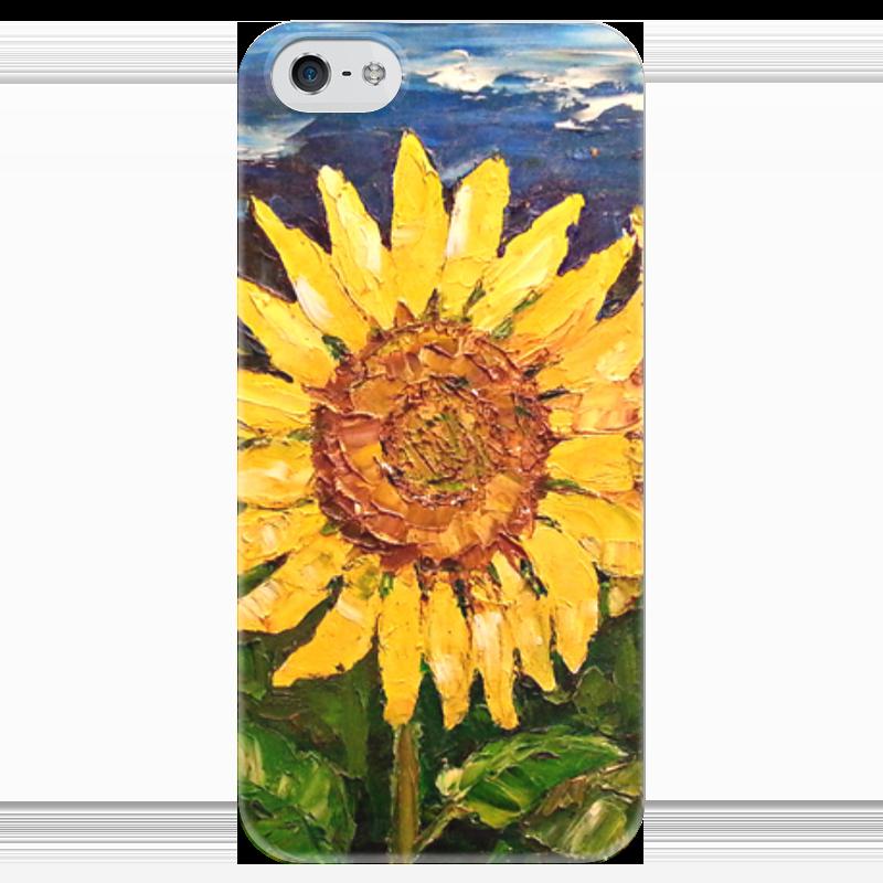 Чехол для iPhone 5 глянцевый, с полной запечаткой Printio Sunflower чехол для iphone 5 глянцевый с полной запечаткой printio ember spirit dota 2