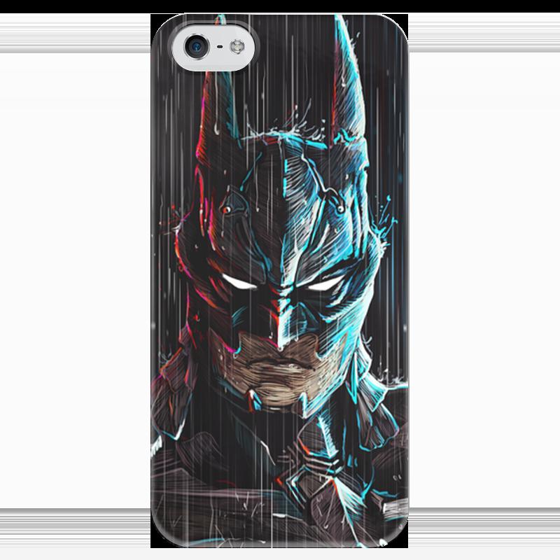 Чехол для iPhone 5 глянцевый, с полной запечаткой Printio Batman чехол для iphone 5 глянцевый с полной запечаткой printio хлоя морец