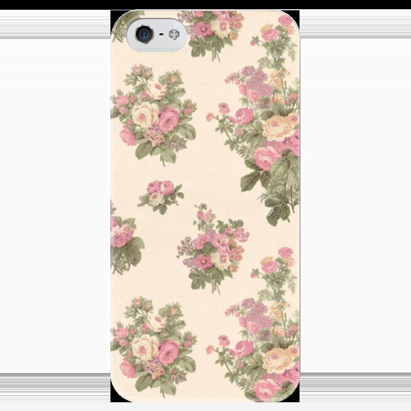 Чехол для iPhone 5 глянцевый, с полной запечаткой Printio Flowers чехол для карточек аnimals in flowers лев дк2017 123