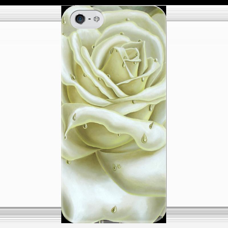Чехол для iPhone 5 глянцевый, с полной запечаткой Printio Белая роза кастрюля эм белая роза 5 1л стек крыш 1238602