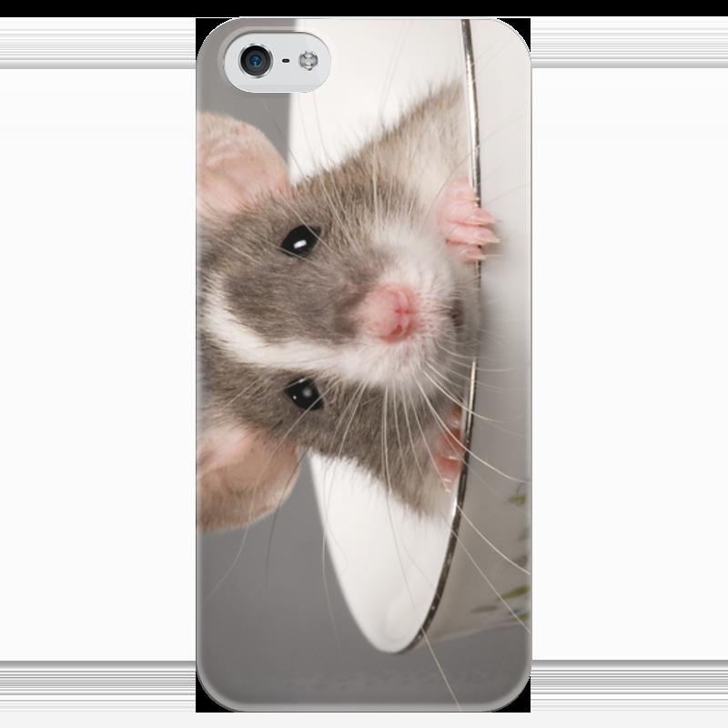 Чехол для iPhone 5 глянцевый, с полной запечаткой Printio Мышка в кружке овсяный кекс в кружке овсянник с вишней
