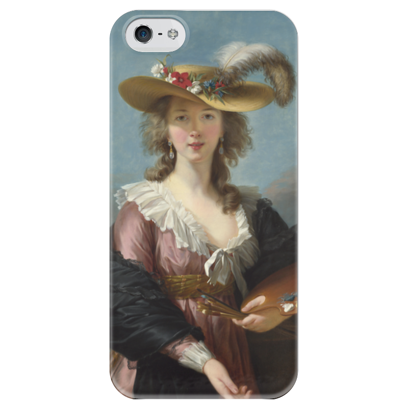 Чехол для iPhone 5 глянцевый, с полной запечаткой Printio Автопортрет в соломенной шляпке (виже-лебрён) чехол для iphone 6 глянцевый printio молодая женщина в соломенной шляпе