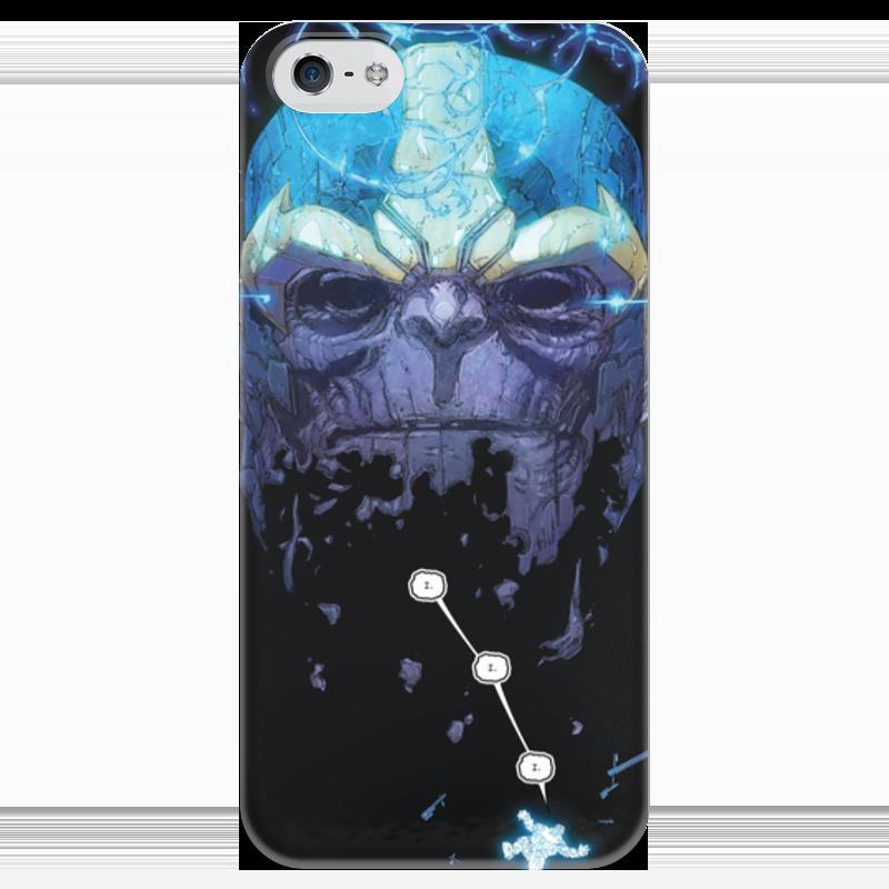 Чехол для iPhone 5 глянцевый, с полной запечаткой Printio Танос чехол для iphone 4 глянцевый с полной запечаткой printio бэтмен