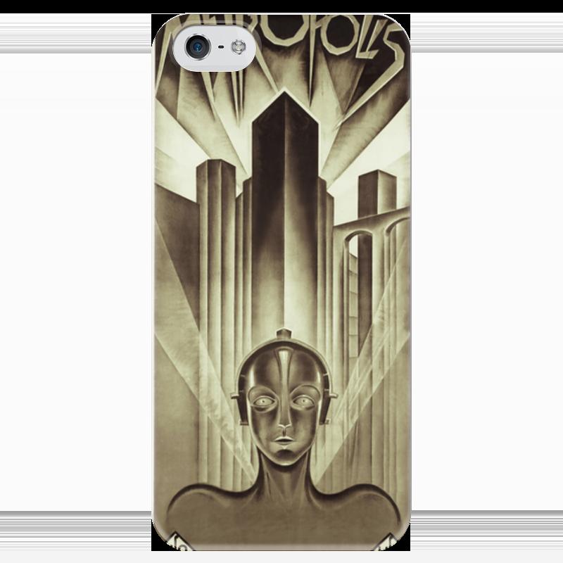 Чехол для iPhone 5 глянцевый, с полной запечаткой Printio Афиша к фильму «метрополис», 1927 год для мам афиша