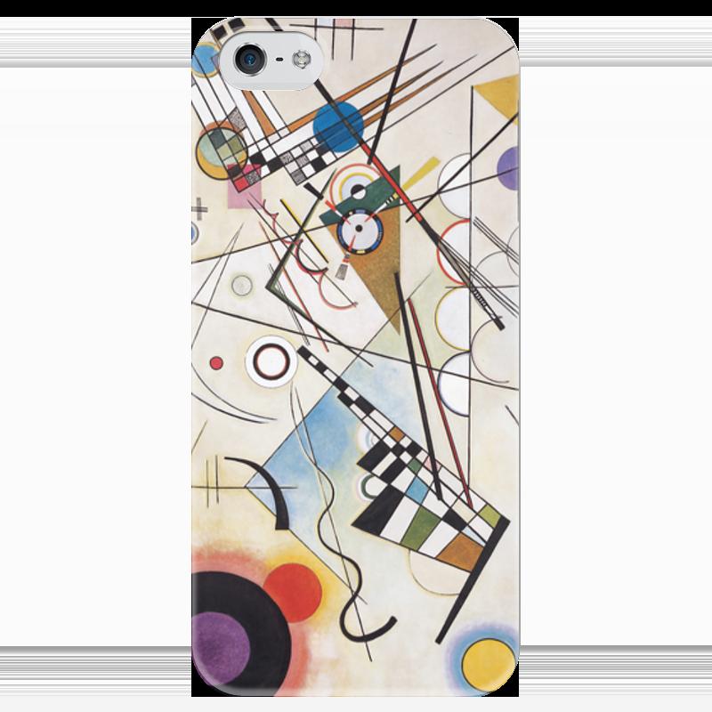 Чехол для iPhone 5 глянцевый, с полной запечаткой Printio Композиция viii (василий кандинский) торт printio points василий кандинский