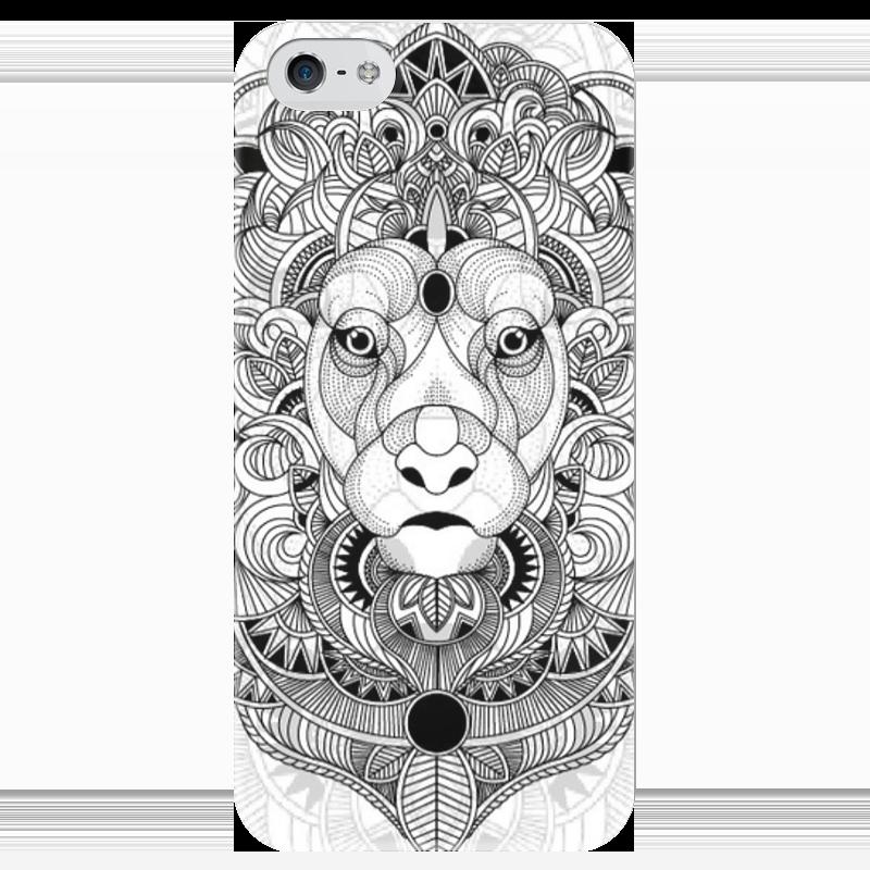 Чехол для iPhone 5 глянцевый, с полной запечаткой Printio Сказочный ле ле трезор дю руа красное