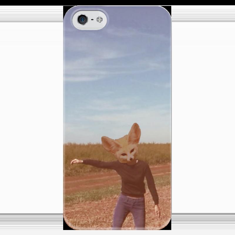 Чехол для iPhone 5 глянцевый, с полной запечаткой Printio Фенек