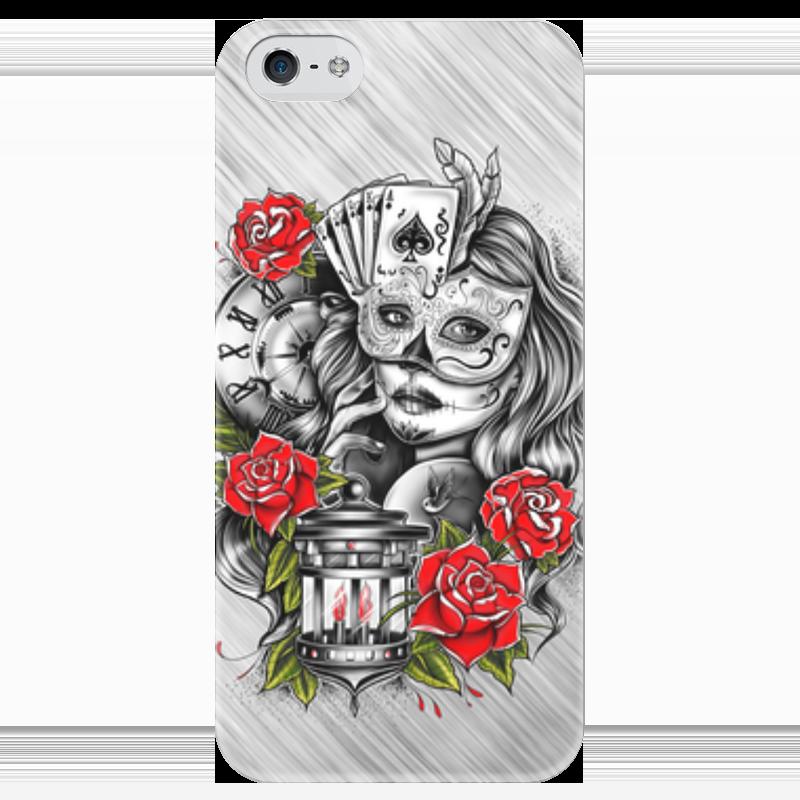 Чехол для iPhone 5 глянцевый, с полной запечаткой Printio Девушка чехол для iphone 5 глянцевый с полной запечаткой printio девушка и павлин