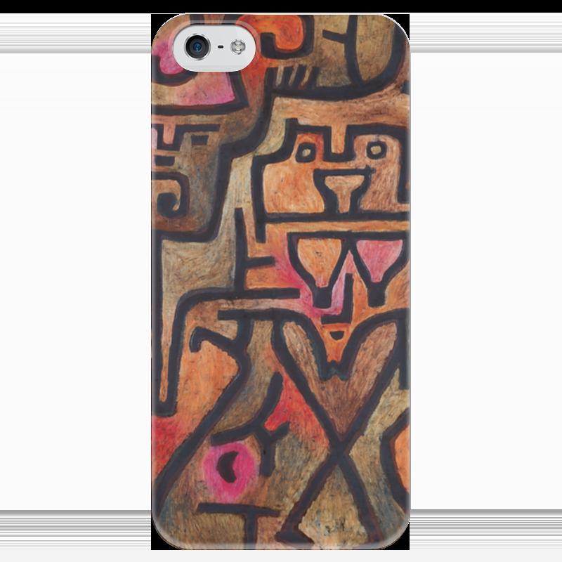 Чехол для iPhone 5 глянцевый, с полной запечаткой Printio Лесные ведьмы (пауль клее) чехол для samsung galaxy s5 printio лесные ведьмы пауль клее