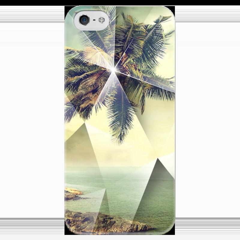 Чехол для iPhone 5 глянцевый, с полной запечаткой Printio Пальмы купить горшок для пальмы большой