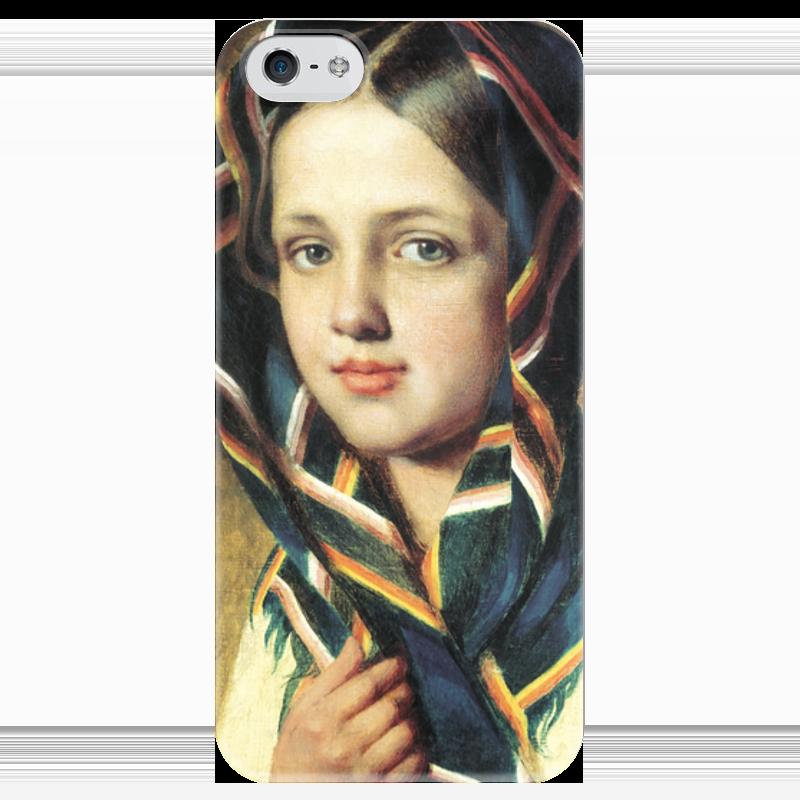 Чехол для iPhone 5 глянцевый, с полной запечаткой Printio Девушка в платке пехов алексей основатель
