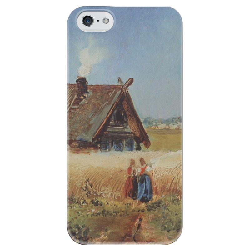 Чехол для iPhone 5 глянцевый, с полной запечаткой Printio Кутузовская изба