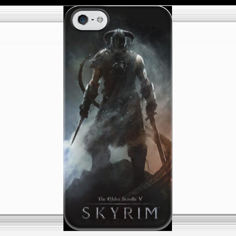 Чехол для iPhone 5 глянцевый, с полной запечаткой Printio Skyrim чехол