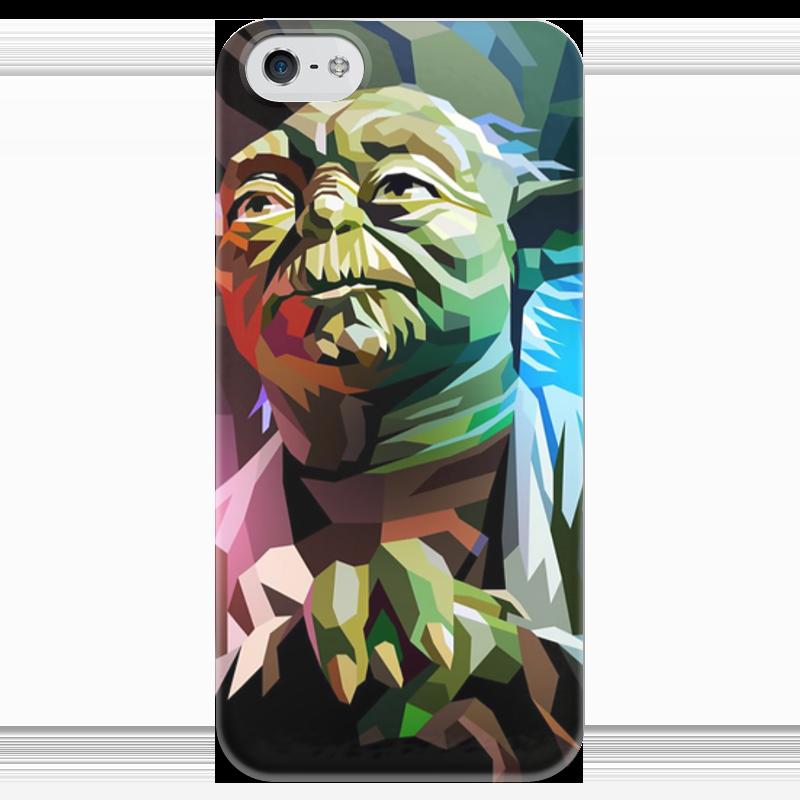 цена на Чехол для iPhone 5 глянцевый, с полной запечаткой Printio Йода (yoda)