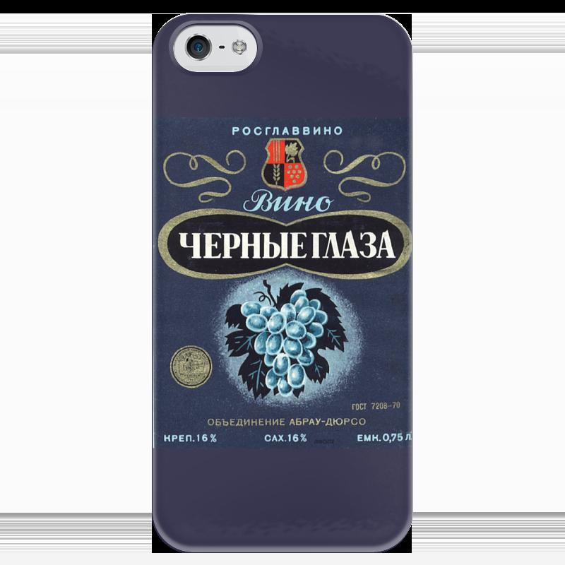 Чехол для iPhone 5 глянцевый, с полной запечаткой Printio Чёрные глаза