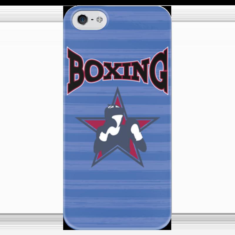 Чехол для iPhone 5 глянцевый, с полной запечаткой Printio Боксер б у пежо боксер