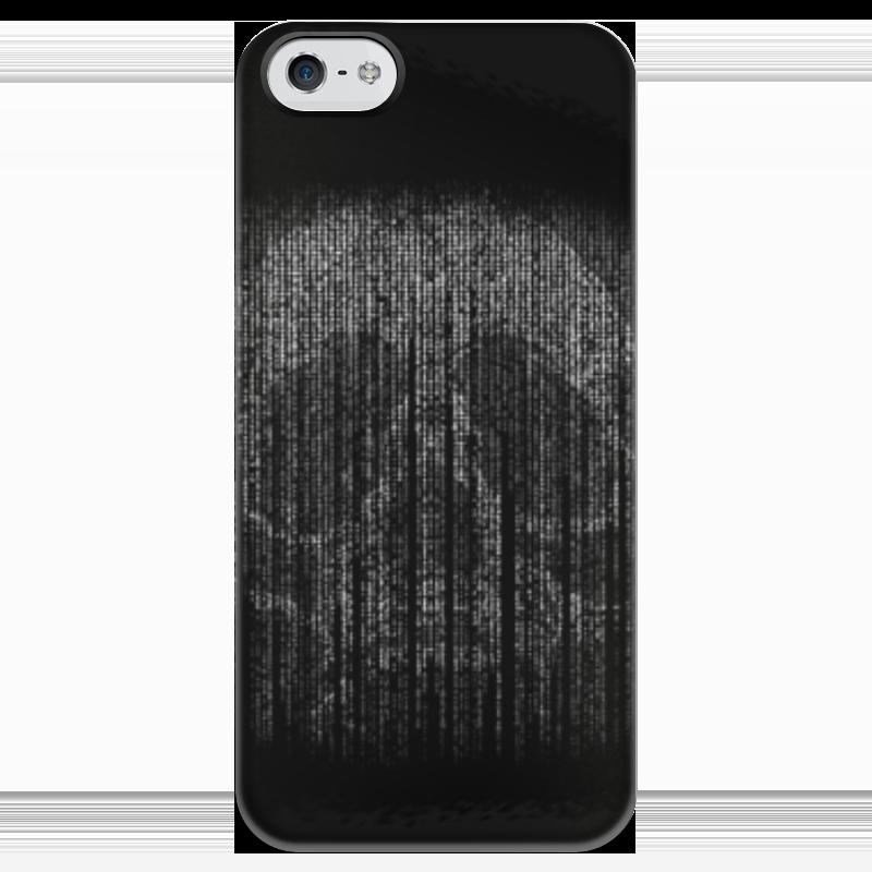 цена Чехол для iPhone 5 глянцевый, с полной запечаткой Printio Голограмма череп