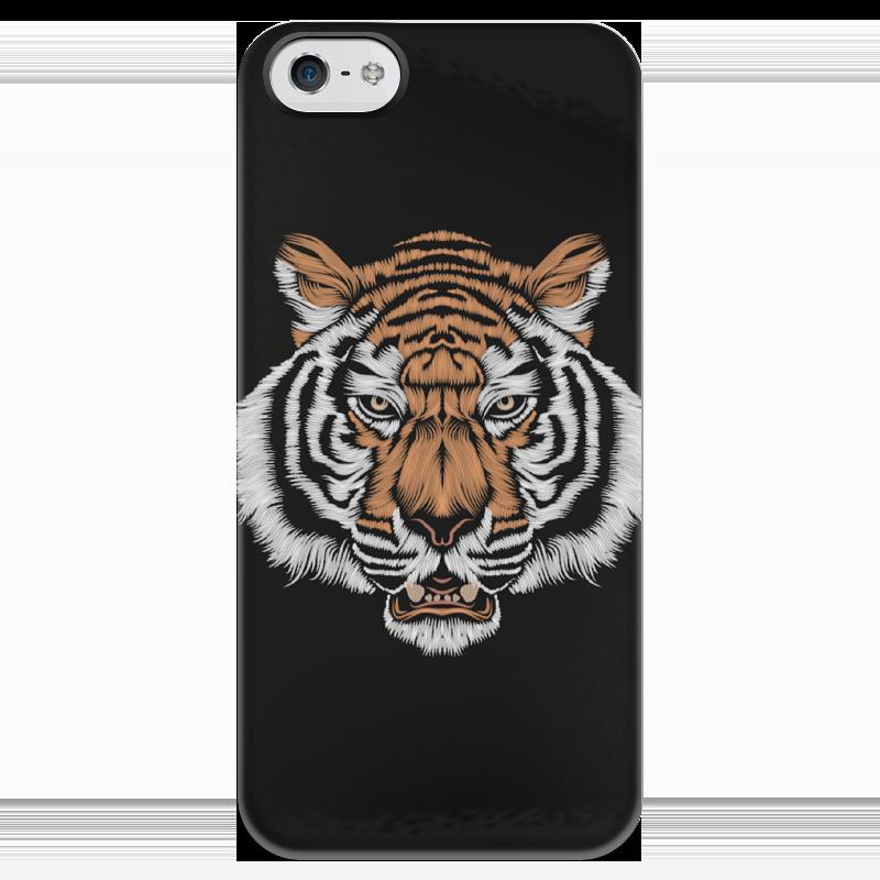 Чехол для iPhone 5 глянцевый, с полной запечаткой Printio Взгляд тигра наборы для рисования цветной картины по номерам взгляд тигра
