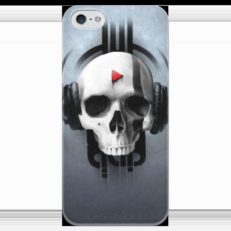 Чехол для iPhone 5 глянцевый, с полной запечаткой Printio Череп чехол для iphone 5 глянцевый с полной запечаткой printio бабушкин сад