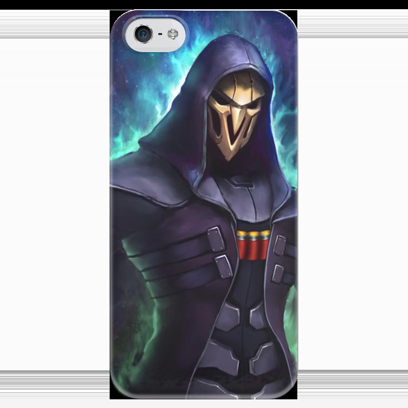купить Чехол для iPhone 5 глянцевый, с полной запечаткой Printio Жнец по цене 980 рублей
