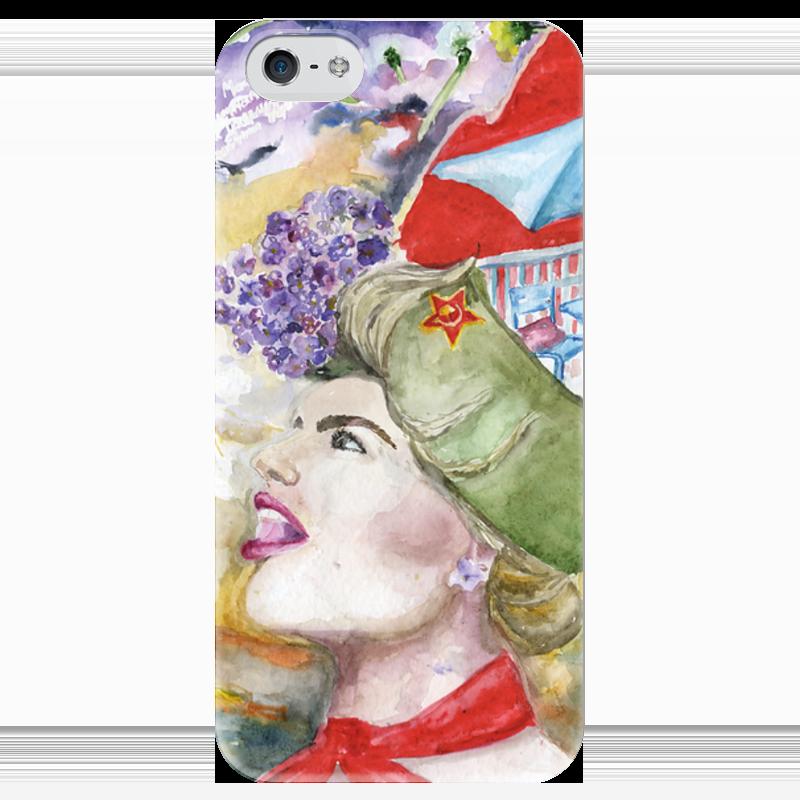 Чехол для iPhone 5 глянцевый, с полной запечаткой Printio Miss may / мисс май терентiй травнiкъ вечный май