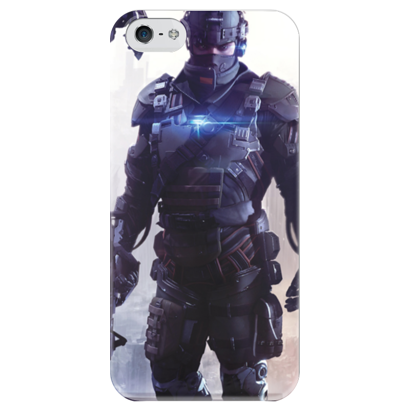 Чехол для iPhone 5 глянцевый, с полной запечаткой Printio Killzone чехол для iphone 5 глянцевый с полной запечаткой printio dota 2 shadow fiend
