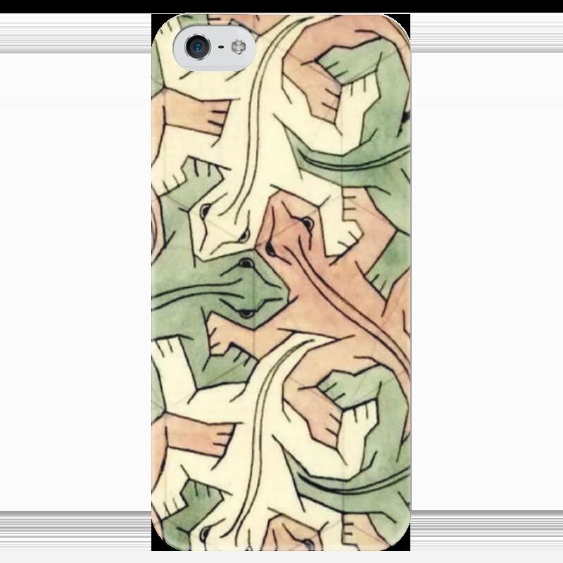 Чехол для iPhone 5 глянцевый, с полной запечаткой Printio Escher чехол