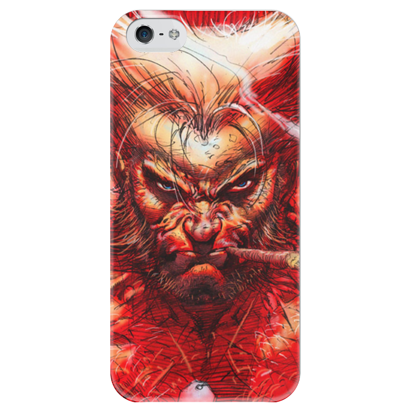 Чехол для iPhone 5 глянцевый, с полной запечаткой Printio Superheroes: wolverine marvel platinum the definitive wolverine reloaded