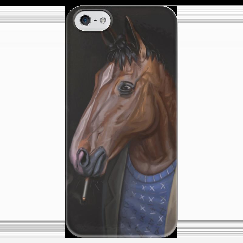 Чехол для iPhone 5 глянцевый, с полной запечаткой Printio Конь боджек какой фирмы лучше фигурные конь