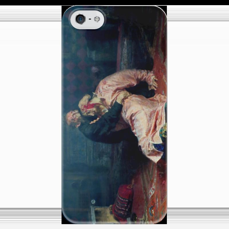 Чехол для iPhone 5 глянцевый, с полной запечаткой Printio Иван грозный убивает своего сына (илья репин) иван бунин жизнь арсеньева