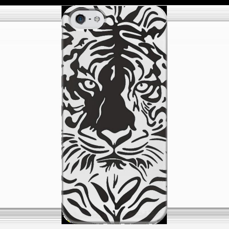 Чехол для iPhone 5 глянцевый, с полной запечаткой Printio Взгляд тигра хоук к в поисках тигра