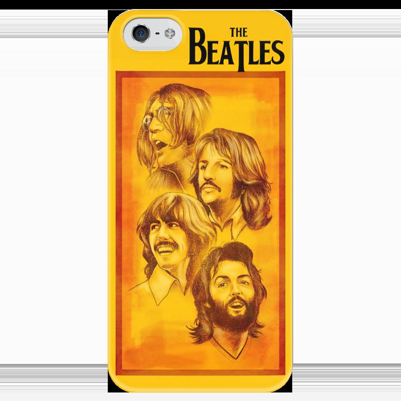 Чехол для iPhone 5 глянцевый, с полной запечаткой Printio The beatles чехол для iphone 6 глянцевый printio битлз the beatles