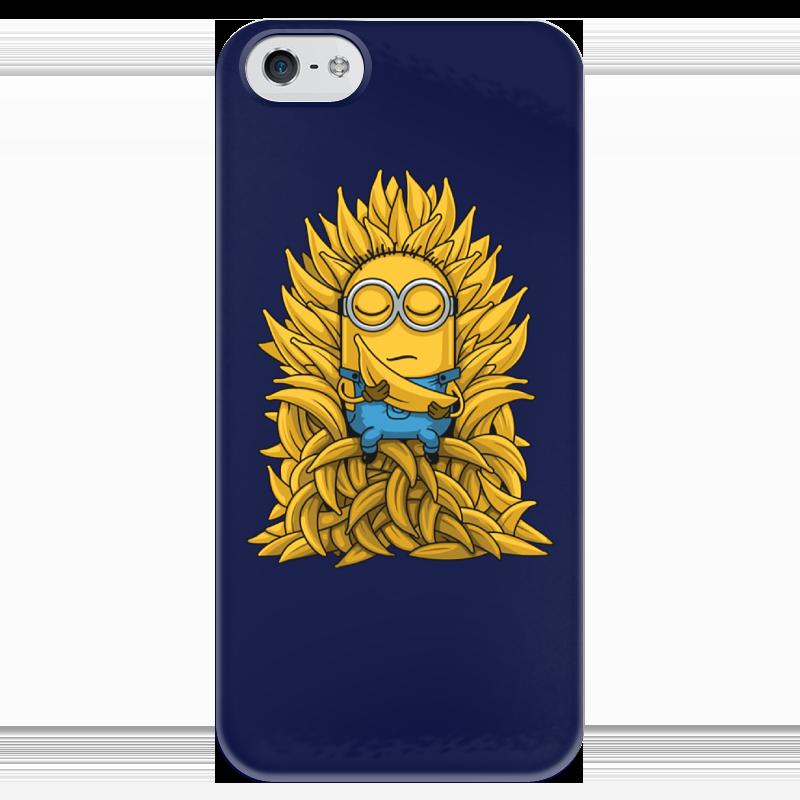Чехол для iPhone 5 глянцевый, с полной запечаткой Printio Миньоны. банана трон мазин а в трон императора