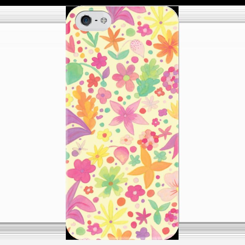 Чехол для iPhone 5 глянцевый, с полной запечаткой Printio Цветы чехол для iphone 5 глянцевый с полной запечаткой printio куртизанка courtesan after eisen