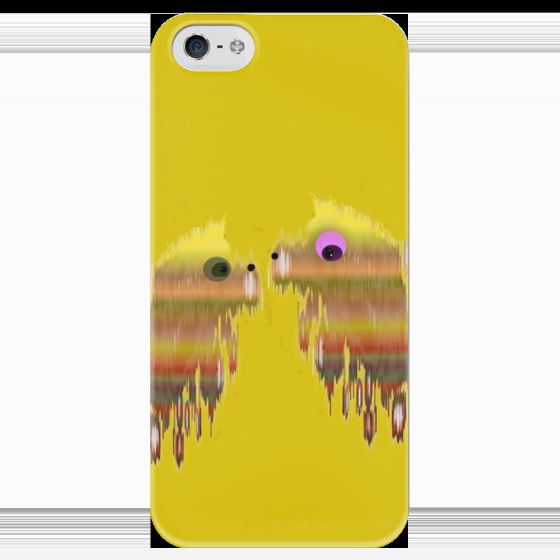 Чехол для iPhone 5 глянцевый, с полной запечаткой Printio Собачки чехол для iphone 7 глянцевый printio собачки